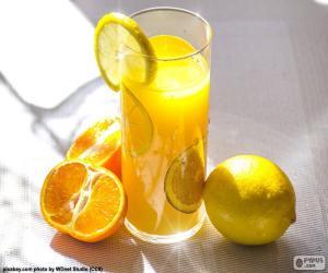 Puzle Suco de laranja e limão