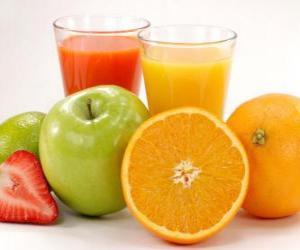Puzle Sucos de frutas