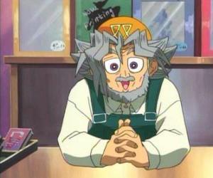 Puzle Sugoroku Muto ou Solomon Muto é o avô de  Yugi e o proprietário de uma loja de jogos de tabuleiro