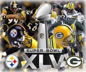 Puzle Super Bowl XLV - Pittsburgh Steelers vs Green Bay Packers