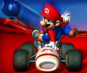Puzle Super Mario Kart é um jogo de corrida