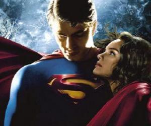 Puzle Superman com Lois Lane, repórter e o seu verdadeiro e grande amor