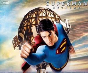 Puzle Superman, o super-herói voando