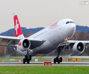 Puzle Swiss International Air Lines, é a principal companhia aérea da Suíça