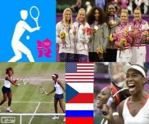 Puzle Tênis duplas femininas Londres 12