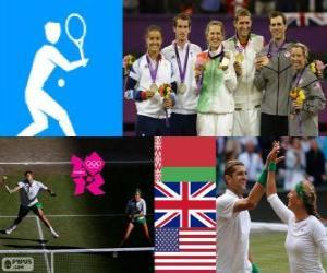 Puzle Tênis duplas mista Londres 2012