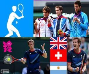 Puzle Tênis simples masculino Londres 12