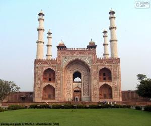 Puzle Túmulo de Akbar, Índia
