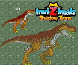 Puzle T-Rex. Invizimals A nova dimensão. O poderoso T-Rex é um dinossauro Invizimal