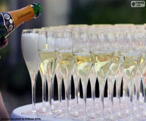 Puzle Taças de champanhe