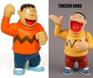 Puzle Takeshi Goda conhecido por seus pares como Jaian, porque ele é um rapaz grande e forte