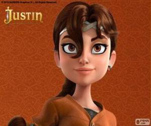 Puzle Talia é colega de aventuras de Justin