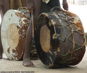 Puzle Tambores africanos