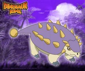 Puzle Tank, Saika. Este dinossauro Saichania é possuído por Ed da Gangue Alpha