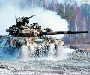 Puzle Tanque de batalha russo T-90S