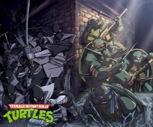 Puzle Tartarugas Ninja em ação