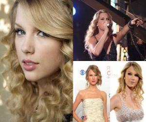 Puzle Taylor Swift é uma cantora e compositora de música country.