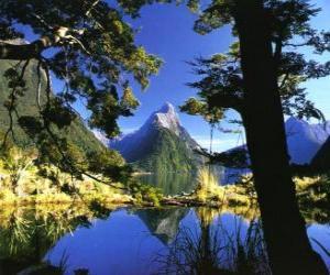 Puzle Te Wahipounamu - Sudoeste da Nova Zelândia.