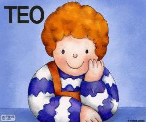 Puzle Teo, um personagem de livros infantis de Violeta Denou