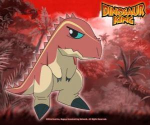 Puzle Terry, o tiranossauro possuído por Ursula da gangue Alfa