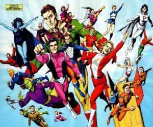 Puzle The Legion of Super Heroes é um super-heróis da banda desenhada que pertencem ao universo pertencente ao editorial da DC.