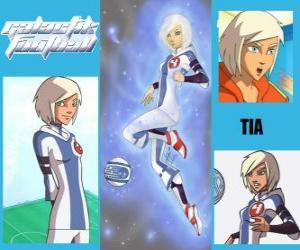 Puzle Tia é a jogadora número 4 da equipe Snow Kids, é o único time que, inicialmente, tem o espírito