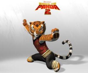 Puzle Tigresa é o mais forte e mais bravos dos mestres do Kung Fu.
