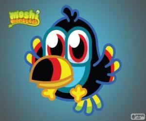 Puzle Tiki é um Moshlings, o Tucano. Série de aves