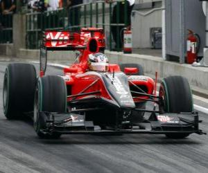 Puzle Timo Glock - Virgin - Grande Prêmio da Hungria 2010
