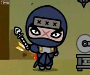 Puzle Tobe, o principal vilão da Pucca, que sempre tenta vingança contra Garu