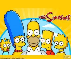 Puzle Toda a família Simpson