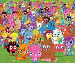 Puzle Todos os monstros de Moshi Monsters