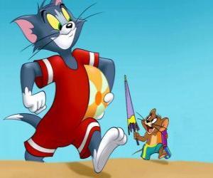Puzle Tom e Jerry na praia