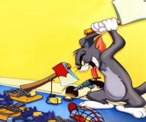 Puzle Tom tentou apanhar o rato Jerry