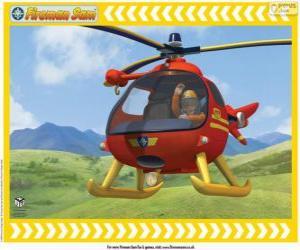 Puzle Tom Thomas com seu helicóptero Wallaby One