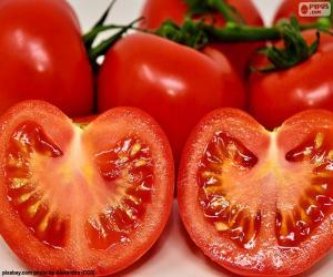 Puzle Tomate maduro ao meio