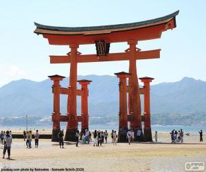 Puzle Torii do Santuário de Itsukushima, Japão