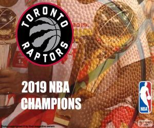 Puzle Toronto Raptors, campeões da NBA 2019