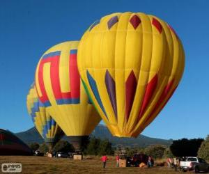 Puzle Três balões prontos para voar
