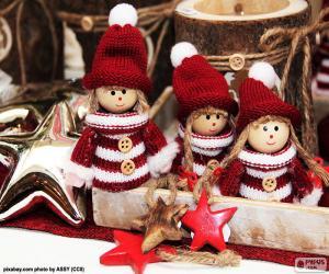 Puzle Três bonecos de Natal