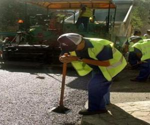 Puzle Trabalhadores de pavimentação