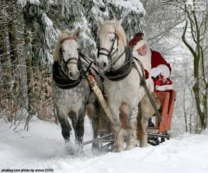 Puzle Trenó de Papai Noel