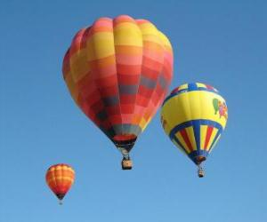 Puzle Três balões