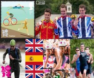 Puzle Triatlo masculino Londres 2012