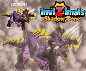 Puzle Triceratops. Invizimals A nova dimensão. Invizimals herbívoro com grande força e coragem