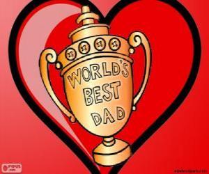 Puzle Troféu ou taça para o melhor pai