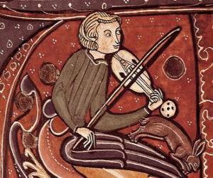 Puzle Trovador ou menestrel, poeta compositor e cantor ou artista de entretenimento da Idade Média na Europa