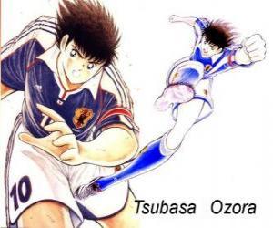 Puzle Tsubasa Ozora é Captain Tsubasa, o capitão do time de futebol japonês