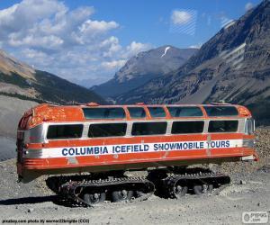 Puzle Um ônibus de neve
