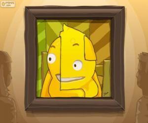 Puzle Um auto-retrato abstrato de Pypus